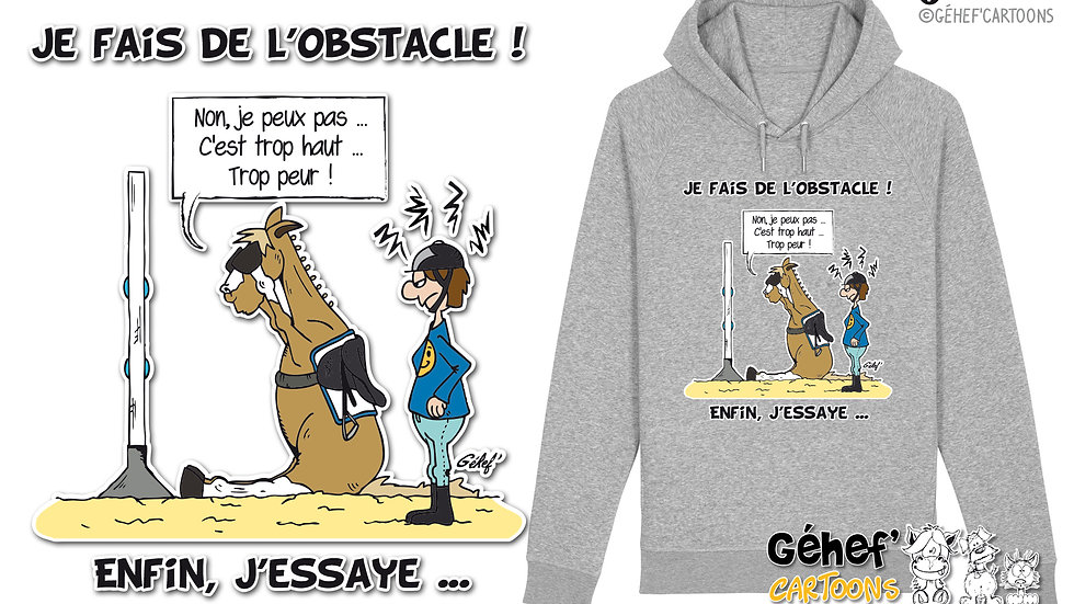 Sweat-shirt Unisex - J'ESSAIE L'OBSTACLE - SS824
