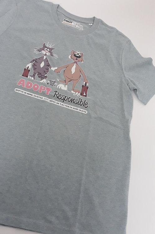 "Tee-shirt unisex bio/éthique ""Adopt Responsible"" - Taille M"