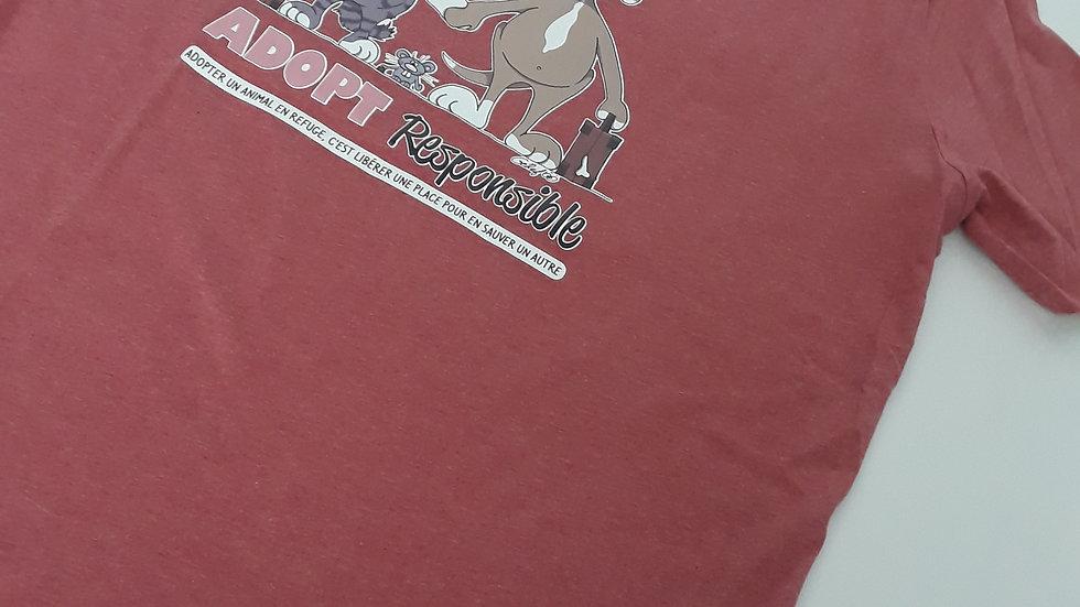 "Tee-shirt unisex bio/éthique ""Adopt Responsible"" -Plusieurs tailles"