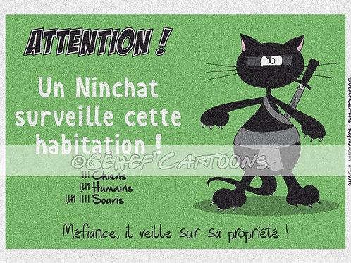 "Plaque NINCHAT - Collection ""Coussinets"""
