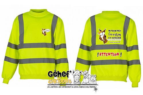 Sweat-shirt col rond haute visibilité unisex - TIREZ PAS SUR LE CH'FAL- HVJ510