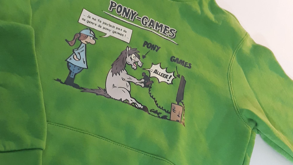 "Sweat-shirt kids ""Pony Games"" - Taille 9/11 ans"