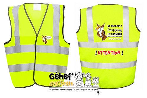 Gilet haute visibilité enfant - TIREZ PAS SUR LE CH'FAL- HVW100CH