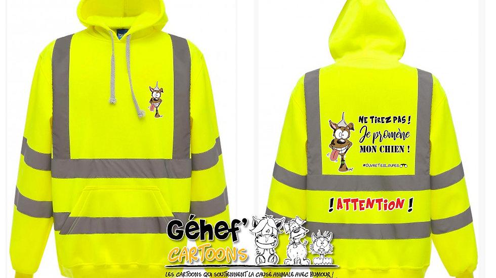 Sweat-shirt hoodie HV unisex - TIREZ PAS ! CHIEN - HVK05