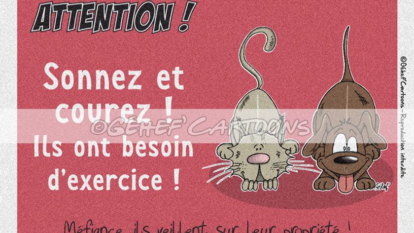 """Plaque MATOUTOU - Collection """"Coussinets"""""""