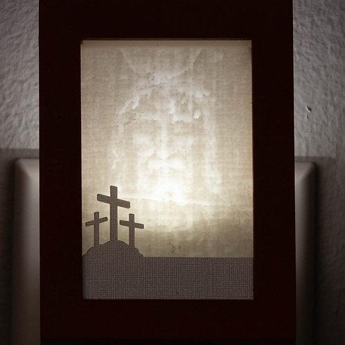 Jewel Tone Color Wood Framed Night Light
