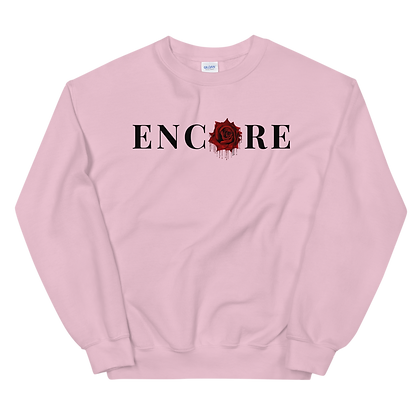 ENCORE DISTRESSED ROSE CREWNECK