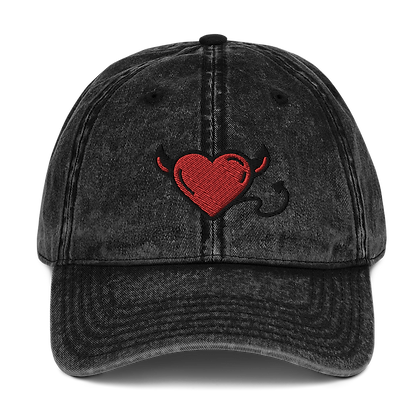 ENCORE VINTAGE DEVIL HEART TWILL CAP