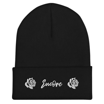 ENCORE ROSE LOGO EMBROIDERED CUFFED BEANIE