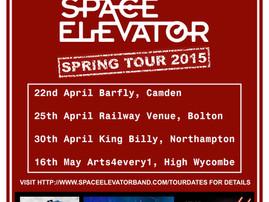 Space Elevator - UK Tour dates announced