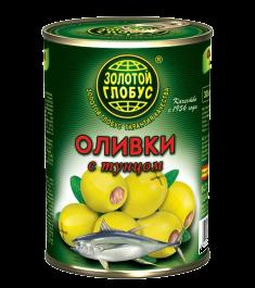 Оливки с тунцом 280г ж/б Золотой глобус *