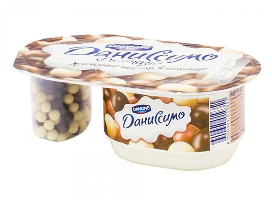 Йогурт Даниссимо Фантазия с хруст. шариками  в шоколаде 6.9% 105г БЗМЖ