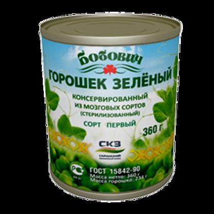 Горошек зеленый в/с 400г ж/б Бобович Саранск *