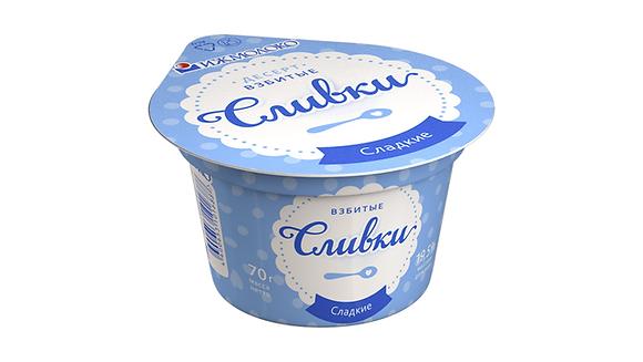 Сливки взбитые десерт 19.5% бзмж 70гр Ижевск