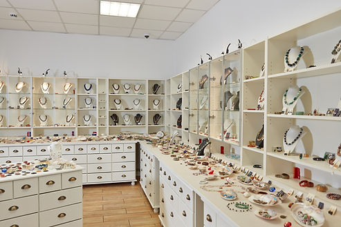 Interior decoration of jewelry store wit