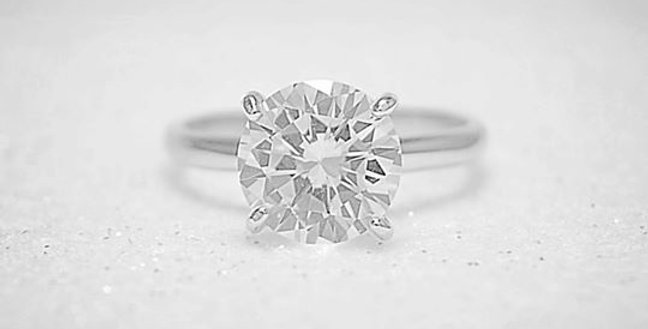CZ SOLITAIRE RING #4