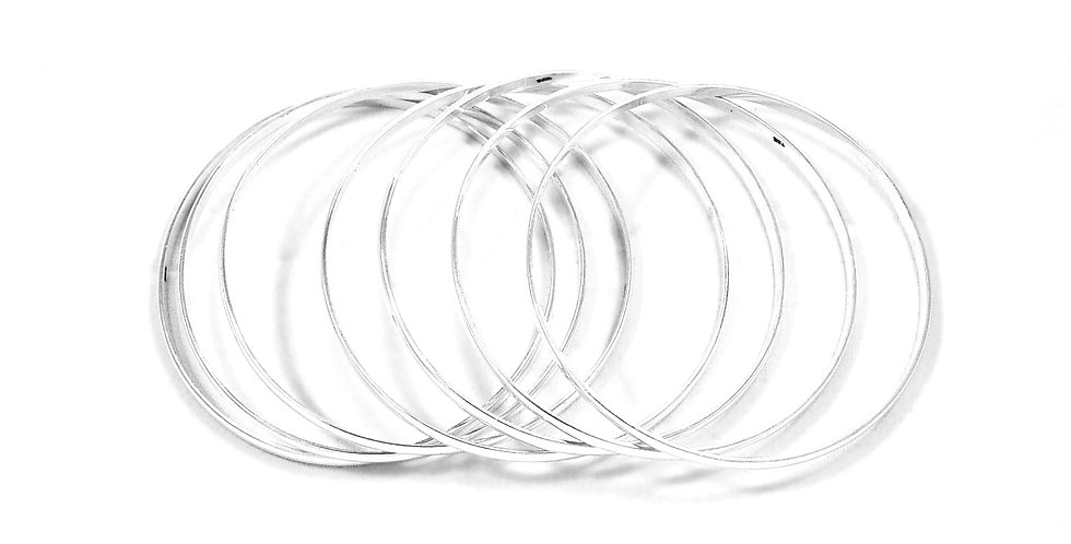 SEMANARIO SEVEN BANDS BANGLE BRACELET 5CM
