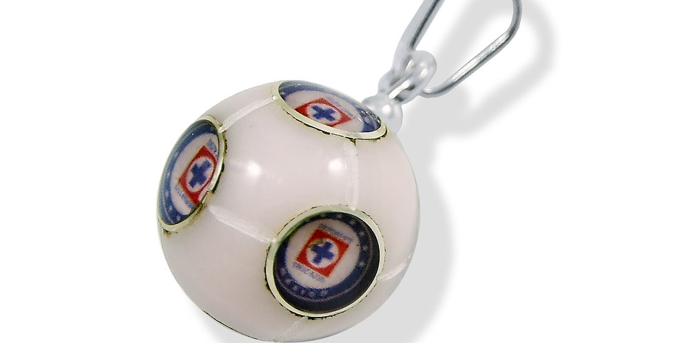 CRUZ AZUL TEAM SOCCER BALL PENDANT 12MM