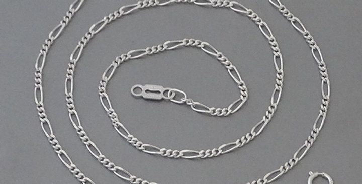 2MM FIGARO LINK CHAIN NECKLACE 18 INCHES