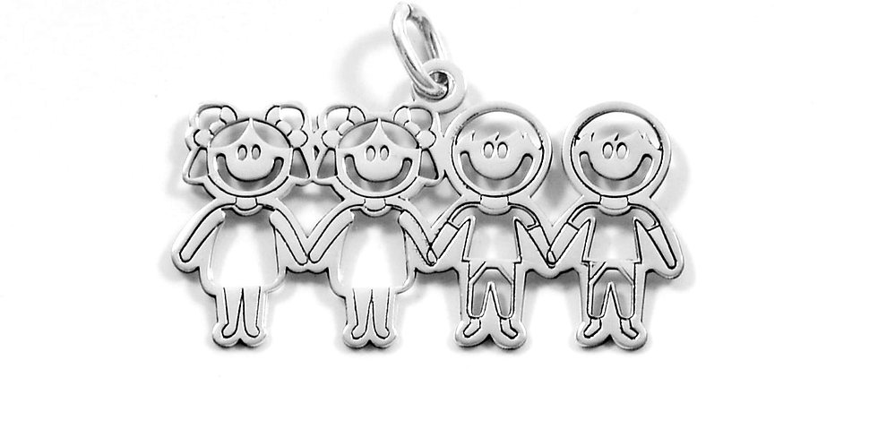 TWO GIRLS TWO BOYS PENDANT 17MM