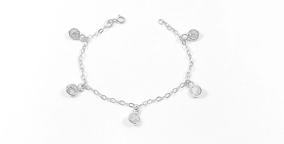 CZ CHAIN BRACELET 7 INCHES