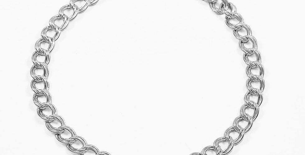 6MM DOUBLE CURB LINK BRACELET 8 INCHES