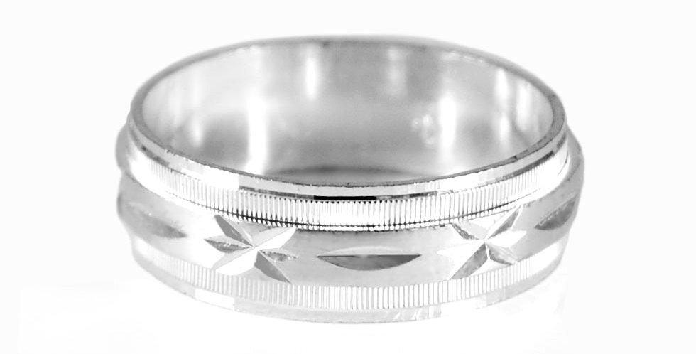 DIAMOND CUT WEDDING RING #9