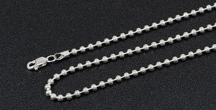 """2.50MM BEAD BALL CHAIN NECKLACE 24"""""""
