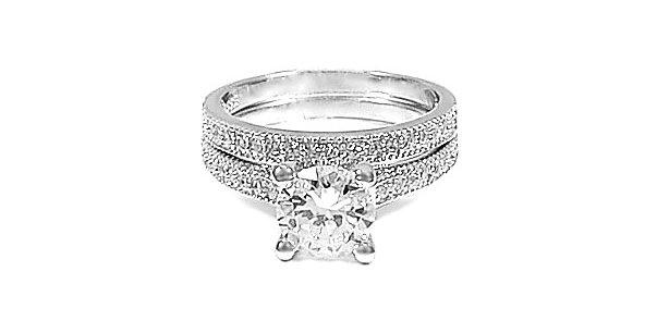 ENGAGEMENT AND WEDDING RING SET #6