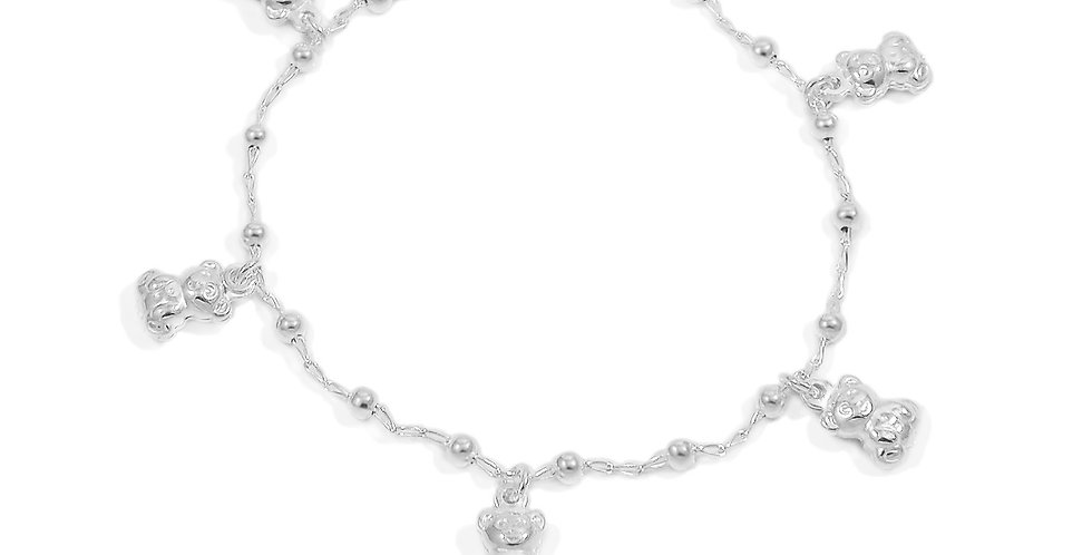 BEARS CHARMS BRACELET 7 INCHES