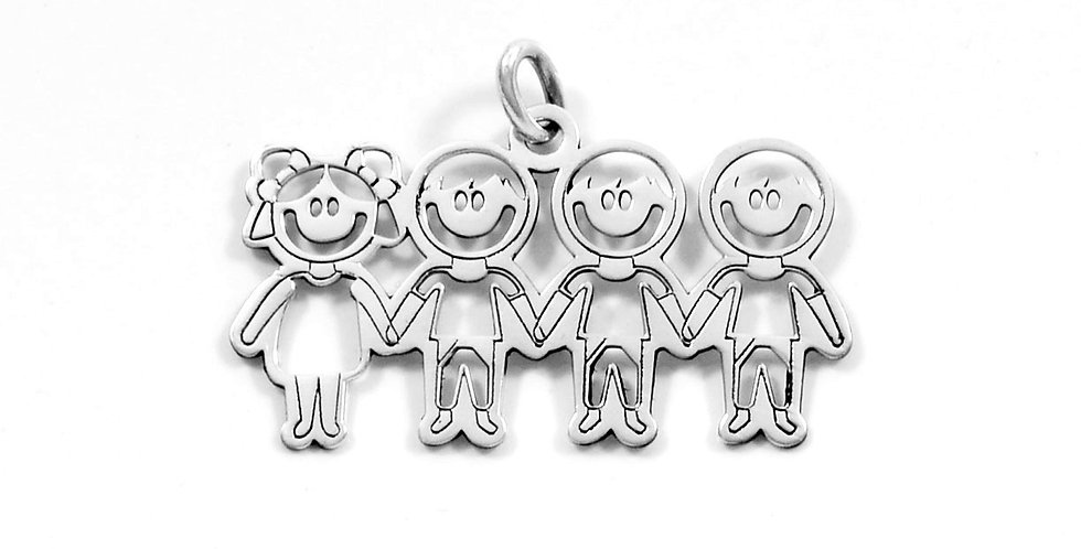 ONE GIRL THREE BOYS PENDANT 17MM
