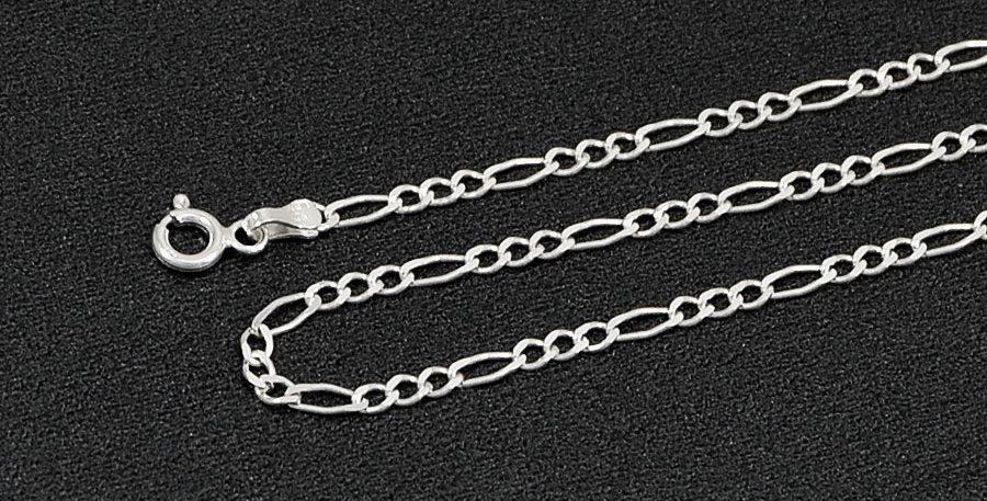 2.5MM FIGARO LINK CHAIN NECKLACE