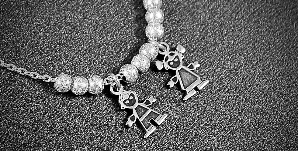 """BOY & GIRL CHAIN NECKLACE 18"""""""