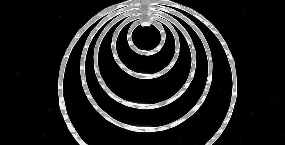 FIVE LEVELS CIRCLE PENDANT 53MM