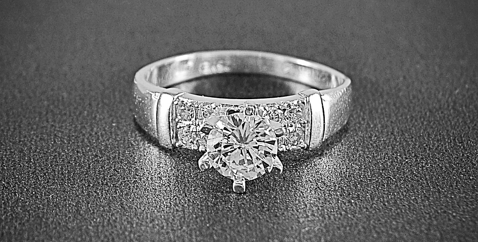 CZ SOLITAIRE RING #9