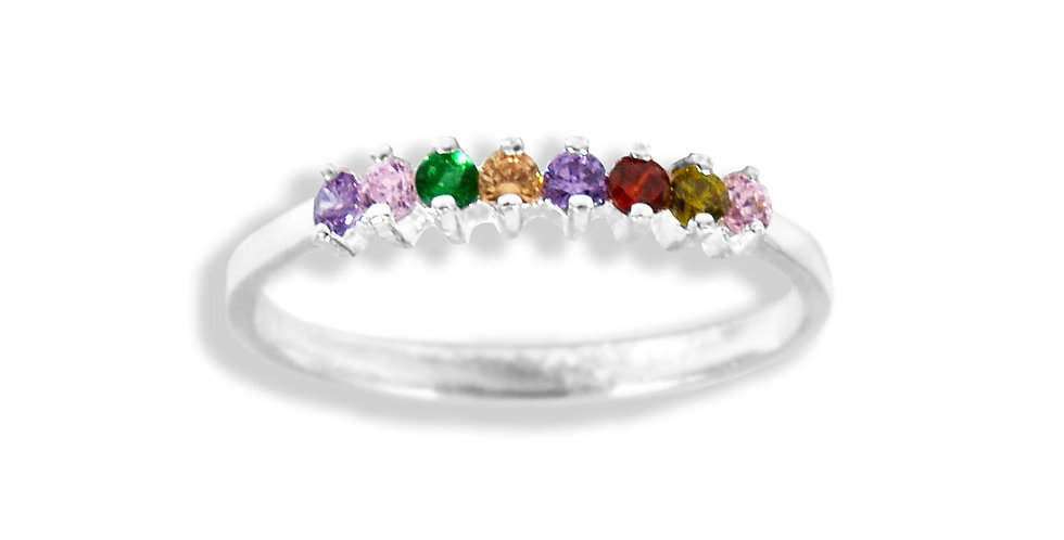 EIGHT MULTICOLOR CZ RING