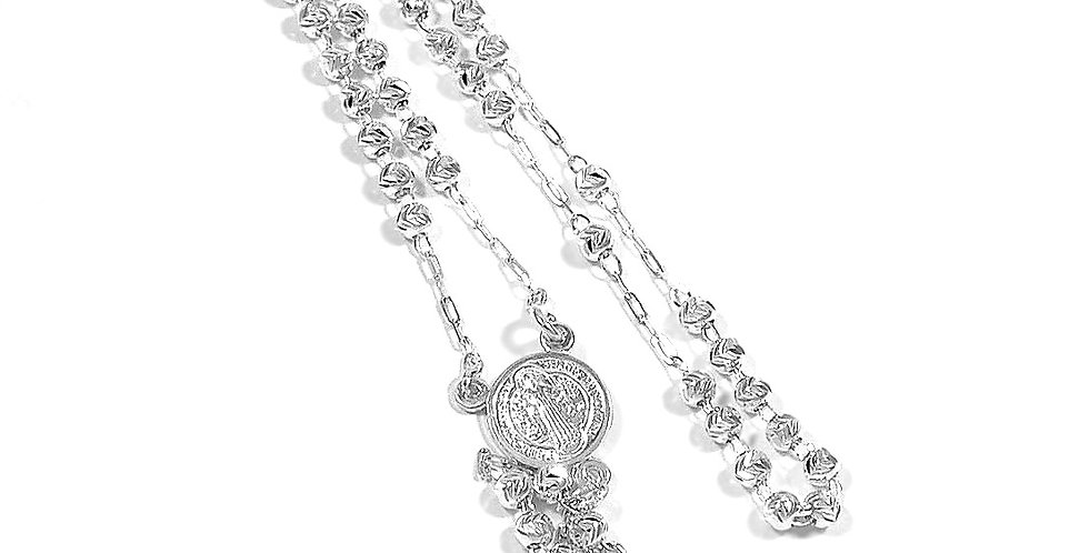 4MM DOUBLE VIEW ROSARY NECKLACE 18 INCHES