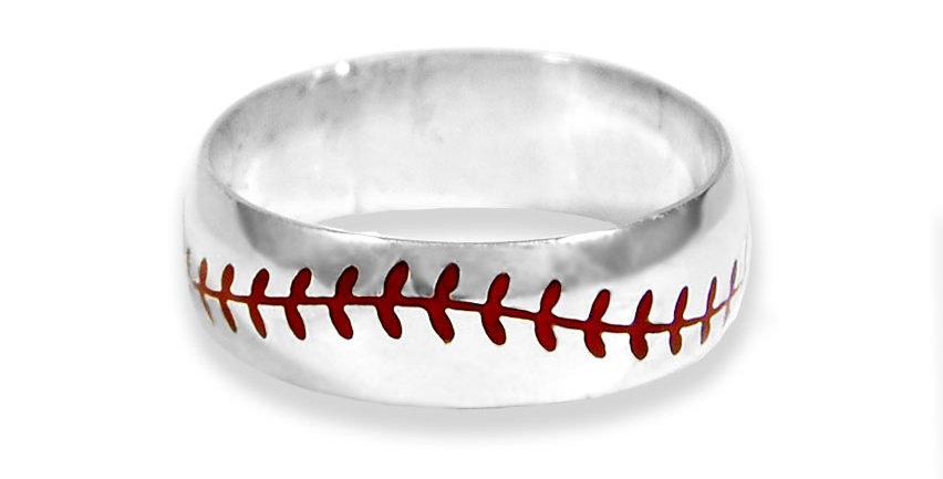 BASEBALL BAND RING #13