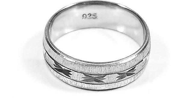 DIAMOND CUT WEDDING RING #11