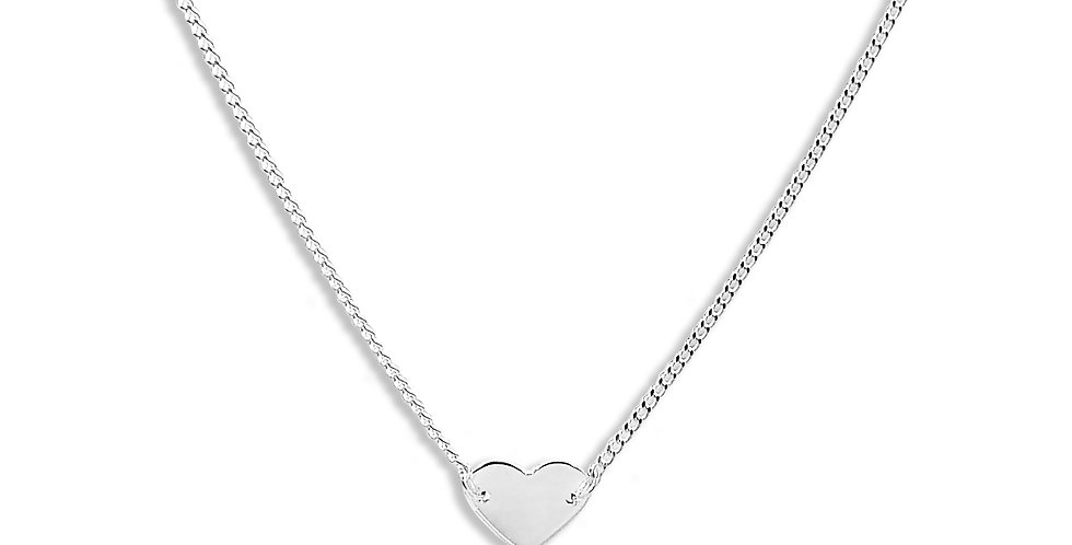PLAIN HEART NECKLACE 18 INCHES
