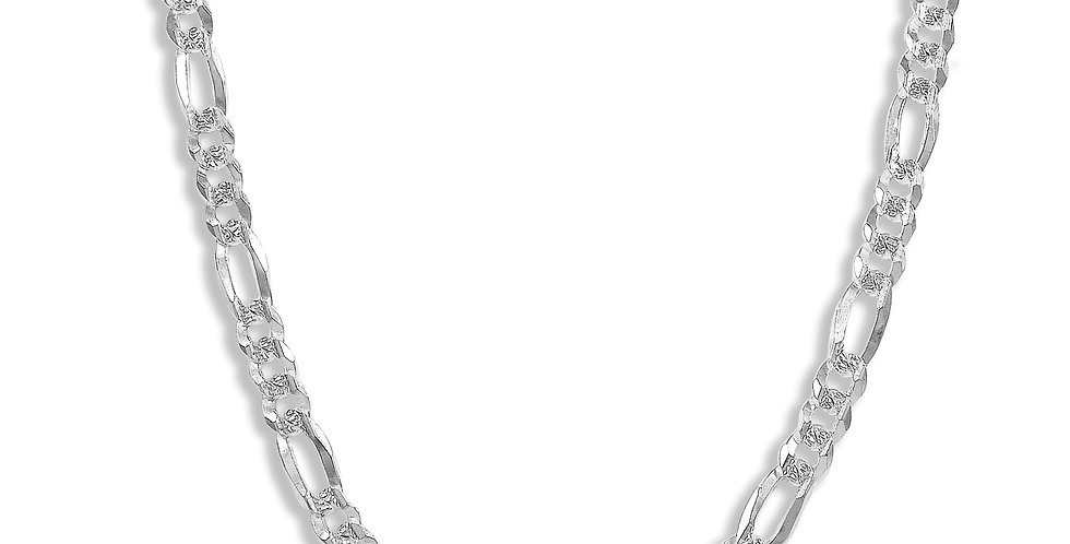 7MM FIGARO LINK CHAIN NECKLACE 24 INCHES