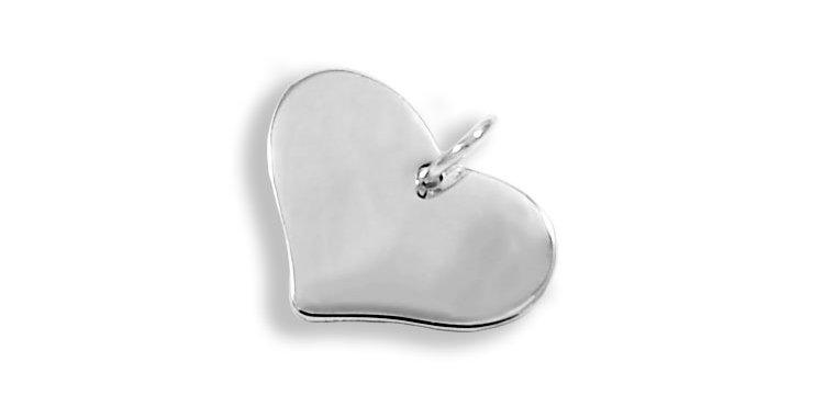PLAIN HEART PENDANT 20MM