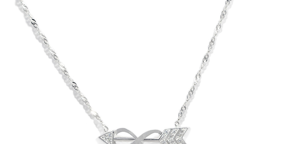 CZ ARROW NECKLACE WITH INFINITY