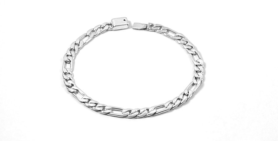 5MM FIGARO LINK BRACELET 9 INCHES