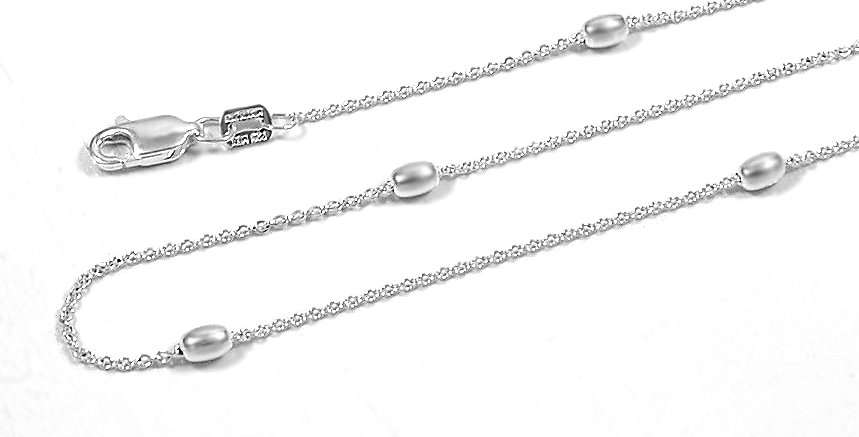 3MM SEED VIVIANA CHAIN NECKLACE 24 INCHES