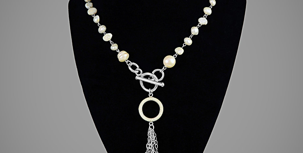 """LONG PEARL NECKLACE 30"""""""