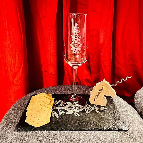 Champagneglas med Kurbits