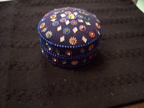 Round Decorated Coin Box