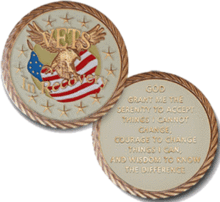 Vets in Recovery Medallion