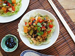 "Chinese ""Sang Choy bau"" mixed vegetable wraps recipe"